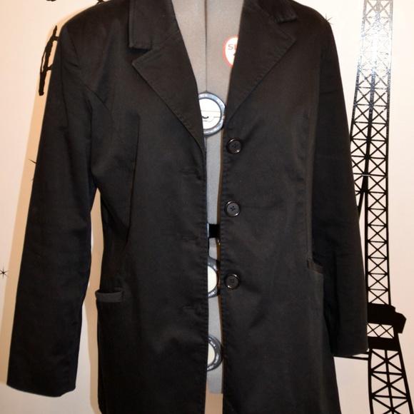31e6d7e40ae George Jackets   Blazers - George Black Coat Size 12